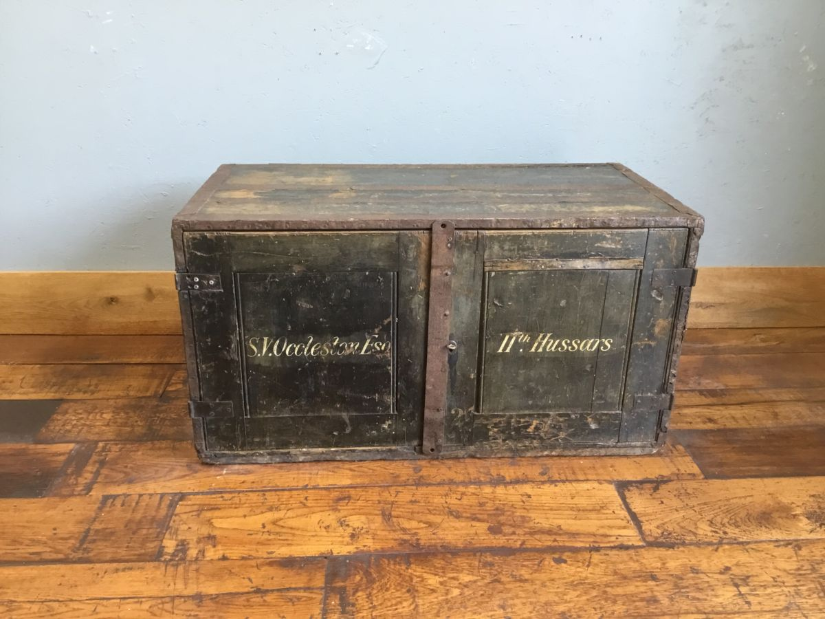Lieutenant-Colonel S. V. Occleston Wooden Luggage Trunk