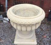 Reconstituted Buff Stone Urn