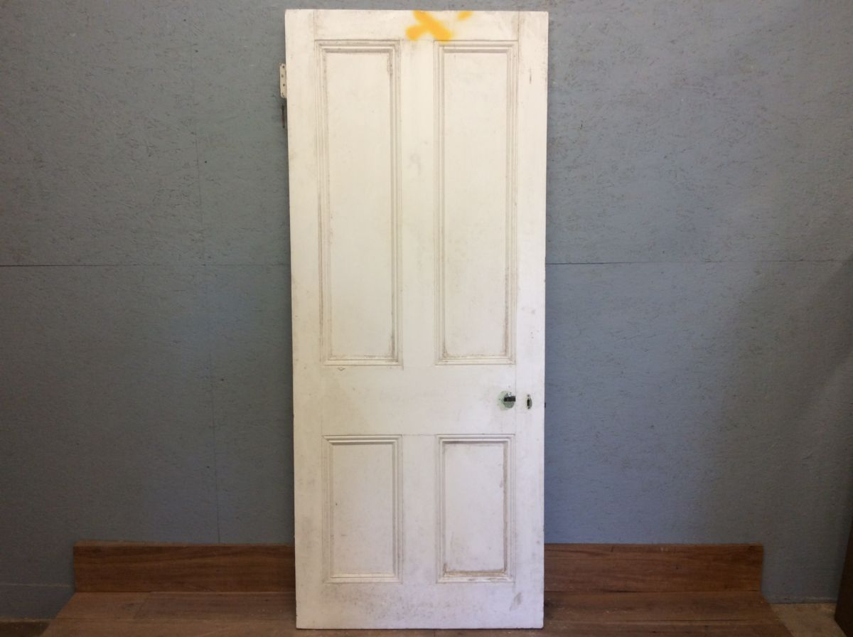 Door White 4 Panelled