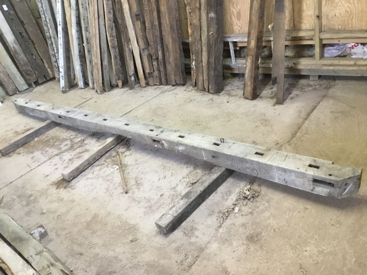 Knotched Reclaimed Oak Beam