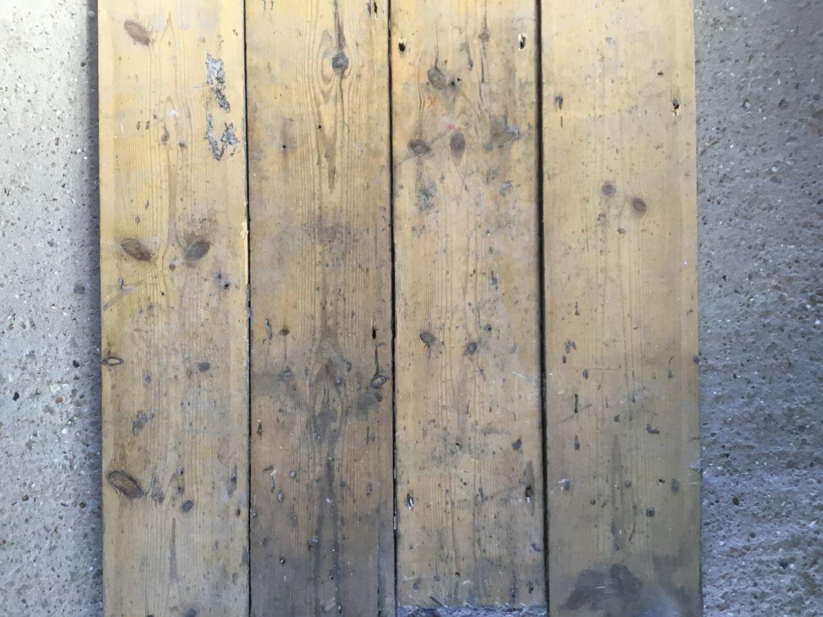 Reclaimed Narrow Village Hall Pine Floorboards