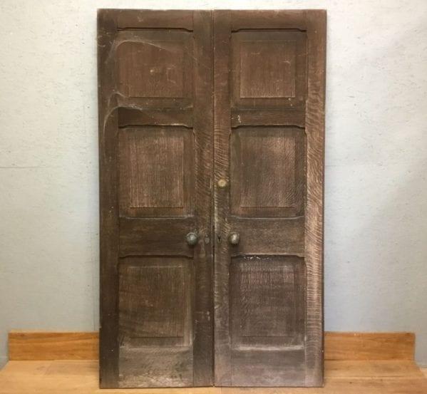 Weathered Oak Double Doors