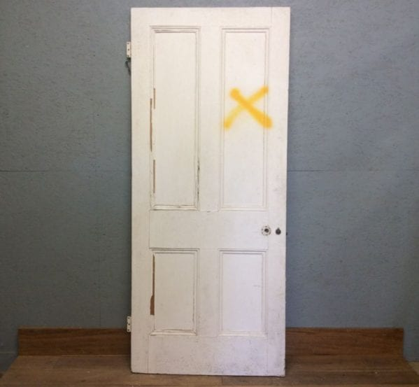 Large White 4 Panelled door