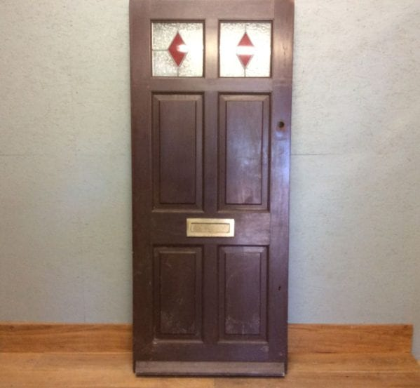 Stained Glass Mahogany Front Door