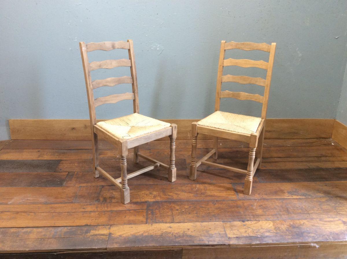 Straw Bound Pine Chairs