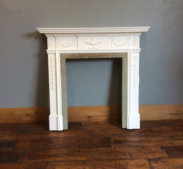 Wooden Surround with Marble Detail