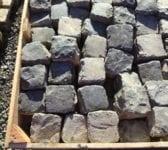 Dark Reclaimed 4 Inch Granite Cobbles