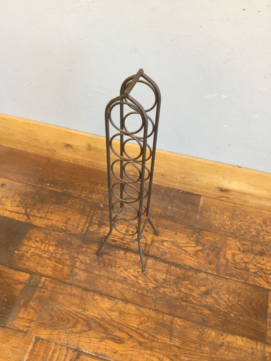 Free-Standing Iron Wine Rack
