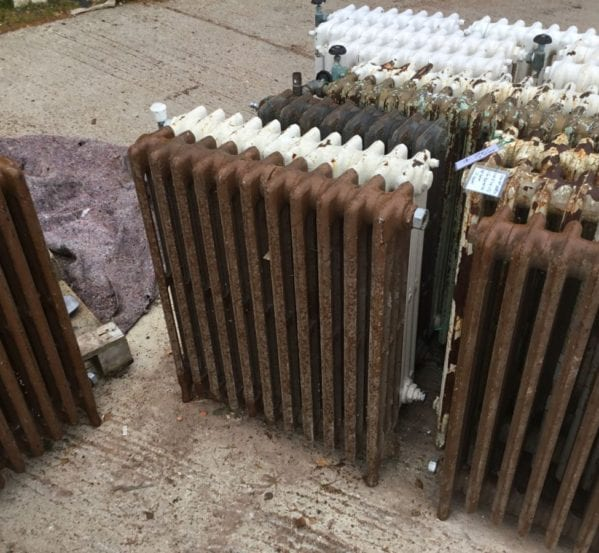 4 Bar Mid High Brown Radiator
