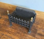 Cast Iron Fire Basket With Brass Finials