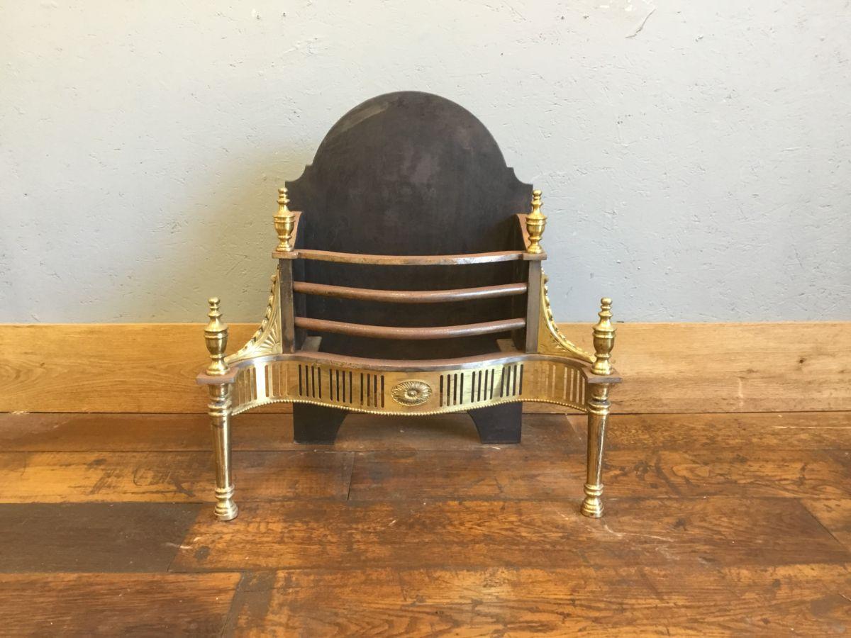 Brass & Cast Iron Regency Style Fire Basket