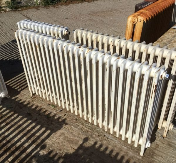 Long Mid Height Reclaimed 4 Bar Radiator
