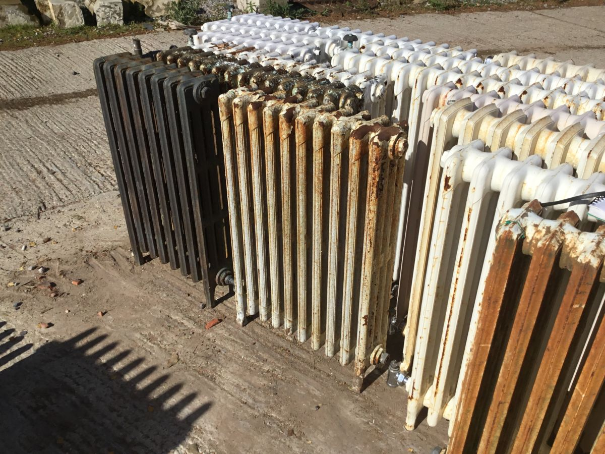 Narrow Mid High 4 Bar Cathedral Radiator