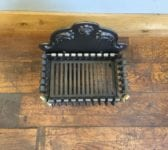 Cast Iron & Brass Front Feet Fire Basket
