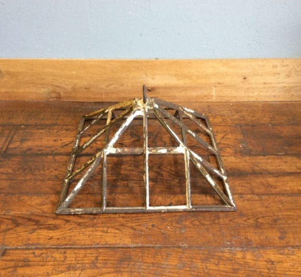 Victorian Cast Iron Square Cloche Top