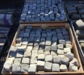 Light Reclaimed 4 Inch Granite Cobbles
