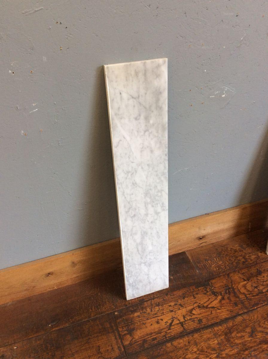 White Marble Hearth Strip