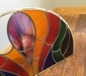 Half Round Leaded Stained Glass Window