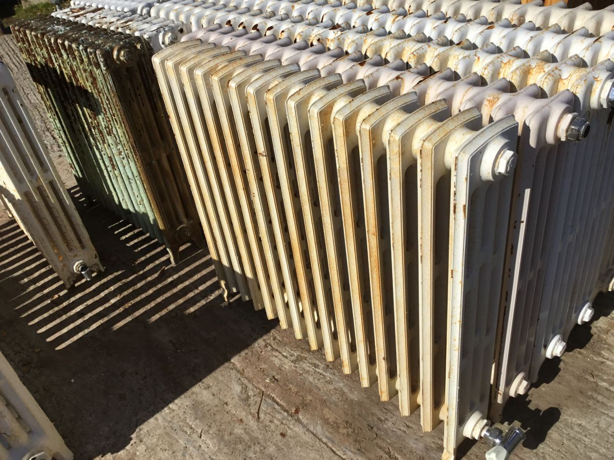 Unique Mid Height Reclaimed 4 Bar Radiator