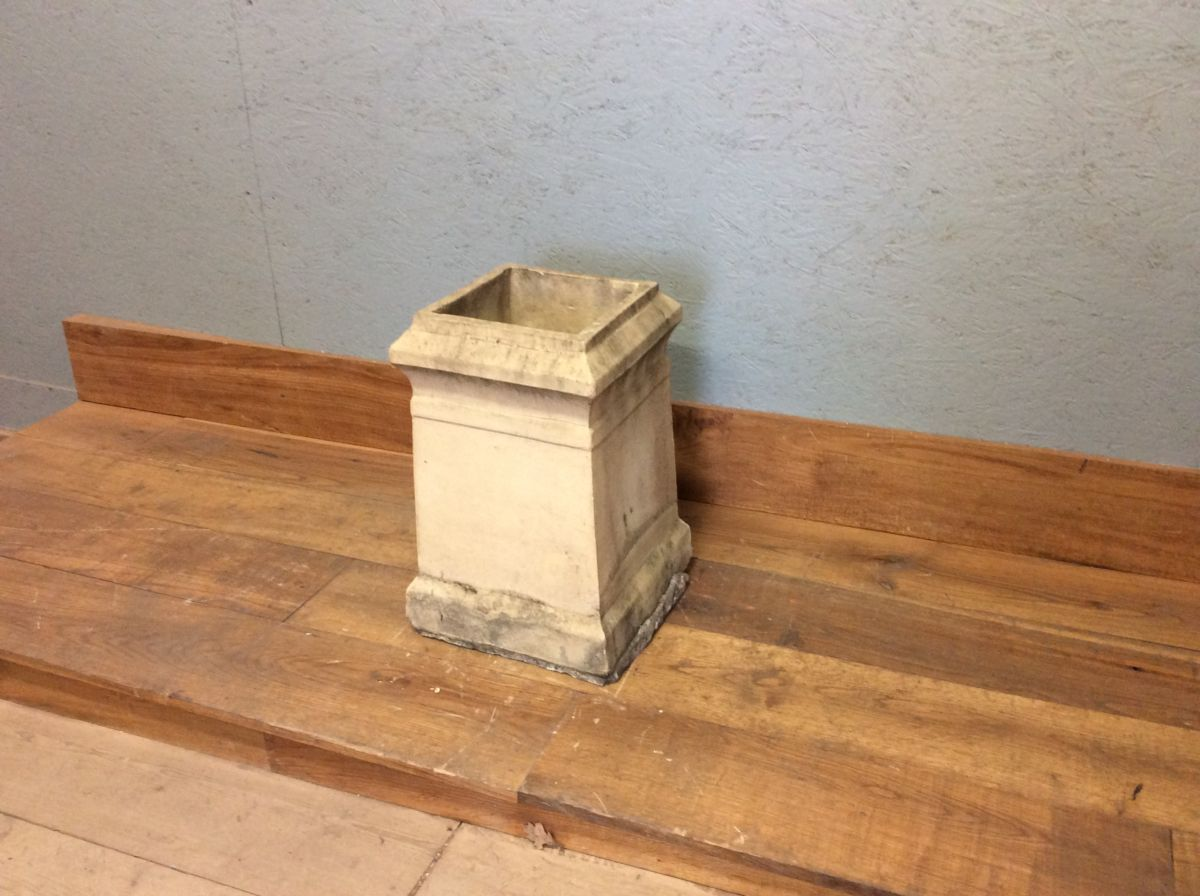 Square Buff Chimney Pot