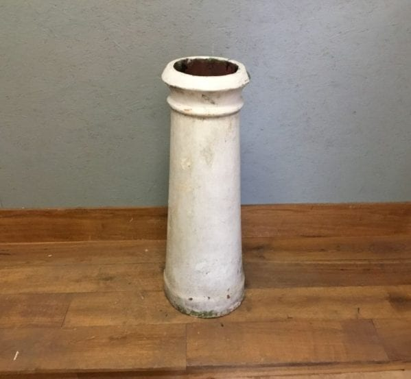 White Painted Reclaimed Chimney Pot