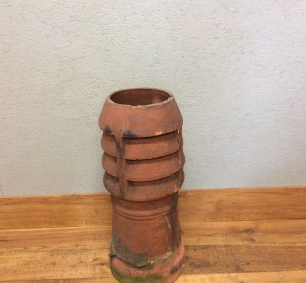 Medium Louvred Terracotta Chimney Pot