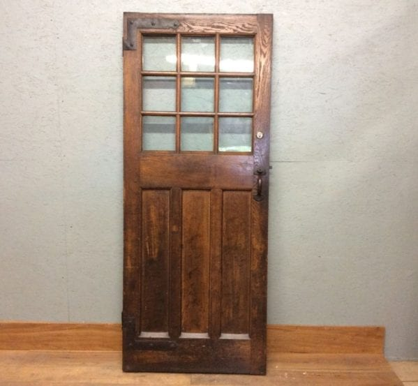Beautiful Oak Half Glazed Door