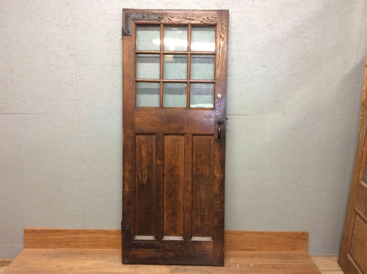 Beautiful Oak Half Glazed Door