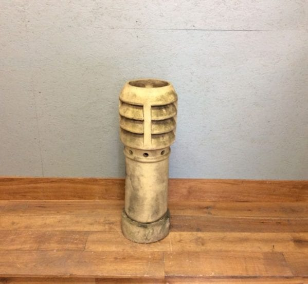 Tall Beige Louvred Chimney Pot