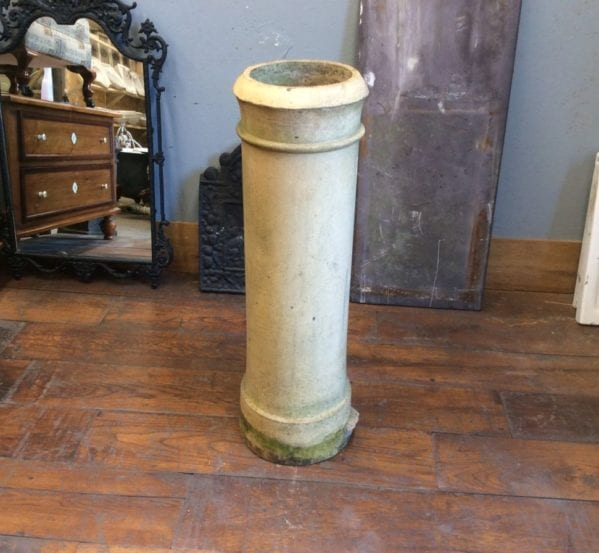 Tall Cream Cannon Head Chimney Pot