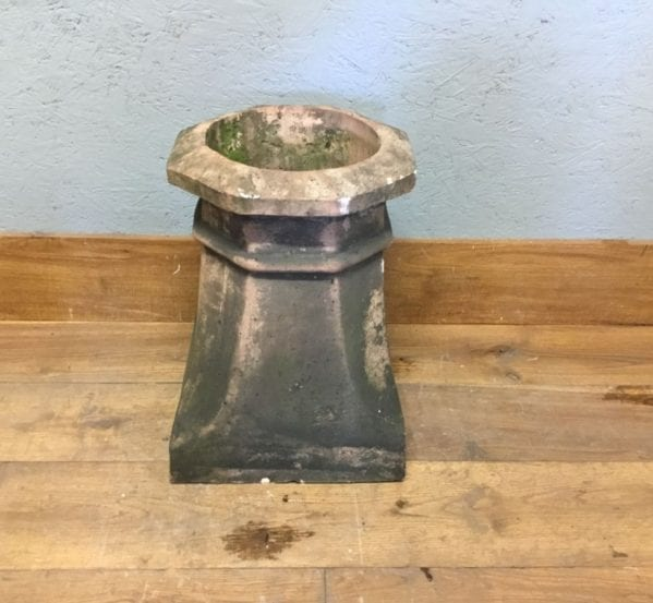Heavily Weathered Buff Chimney Pot