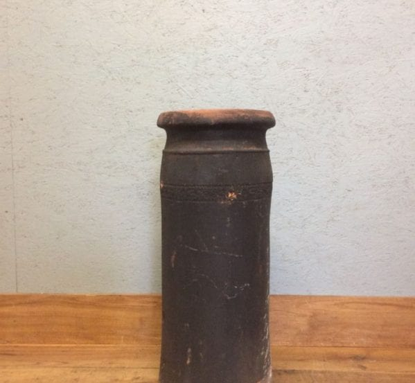 Tall Soot Covered Terracotta Chimney Pot