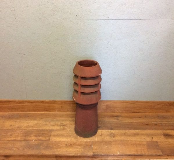 Tall Terracotta Louvred Chimney Pot