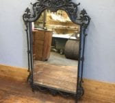 Ornate Black Metal Framed Mirror