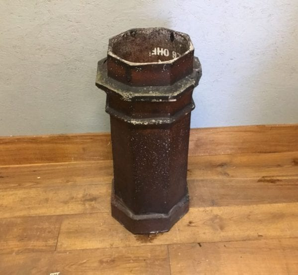 Octagonal Dark Reclaimed Chimney Pot