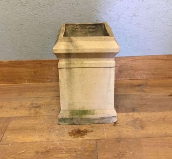 Buff Short Square Reclaimed Chimney Pot