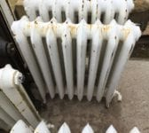 White Painted Reclaimed Princess Radiator