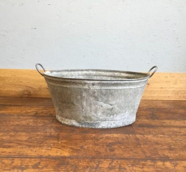 Galvanised Tin Bucket Bath