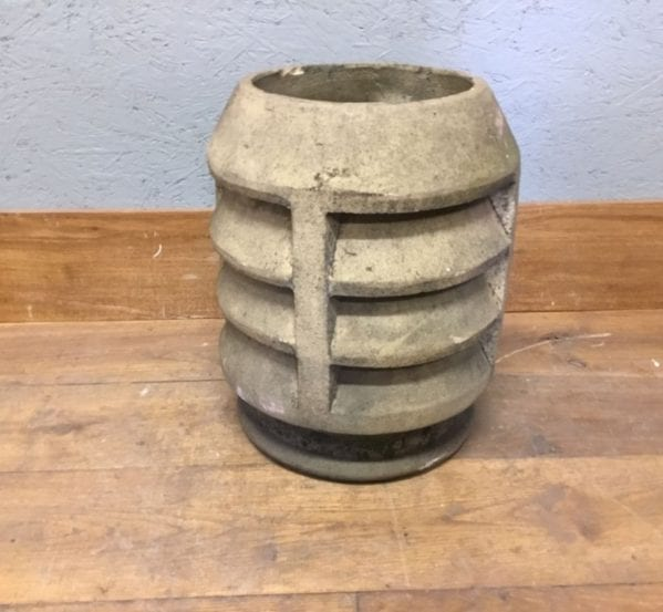 Reclaimed Short Louvred Buff Chimney Pot