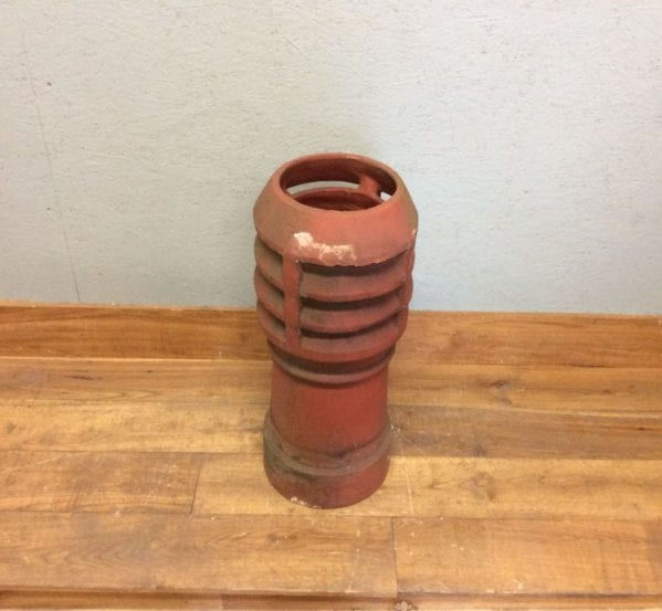 Medium Terracotta Louvred Chimney Pot