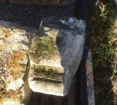 Weathered Feature Stone Triangle Symbol