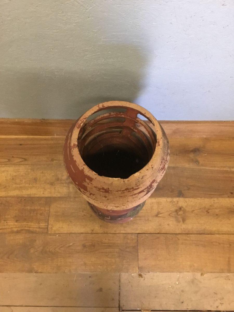 Mottled Terracotta Louvred Chimney Pot