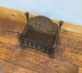 Cast Iron Fire Basket Integrated Fire Back