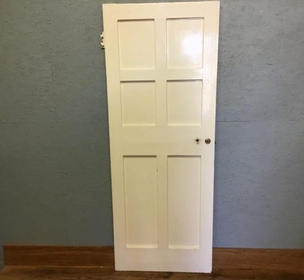 6 Panelled Reclaimed White Painted Internal Door