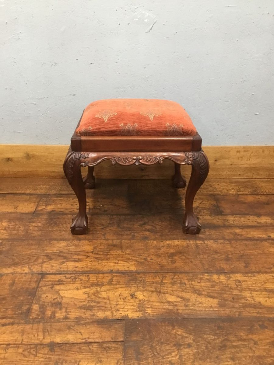 Large Upholstered Piano Stool