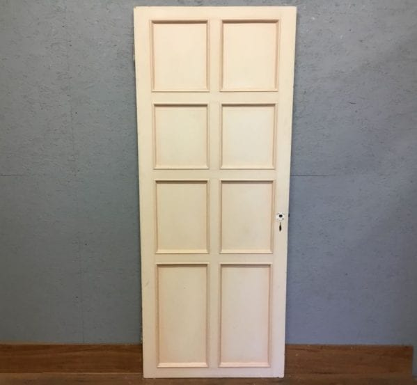 Reclaimed White Painted 8 Panel Internal Door