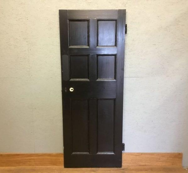 Reclaimed Half Black Painted 6 Panel Door