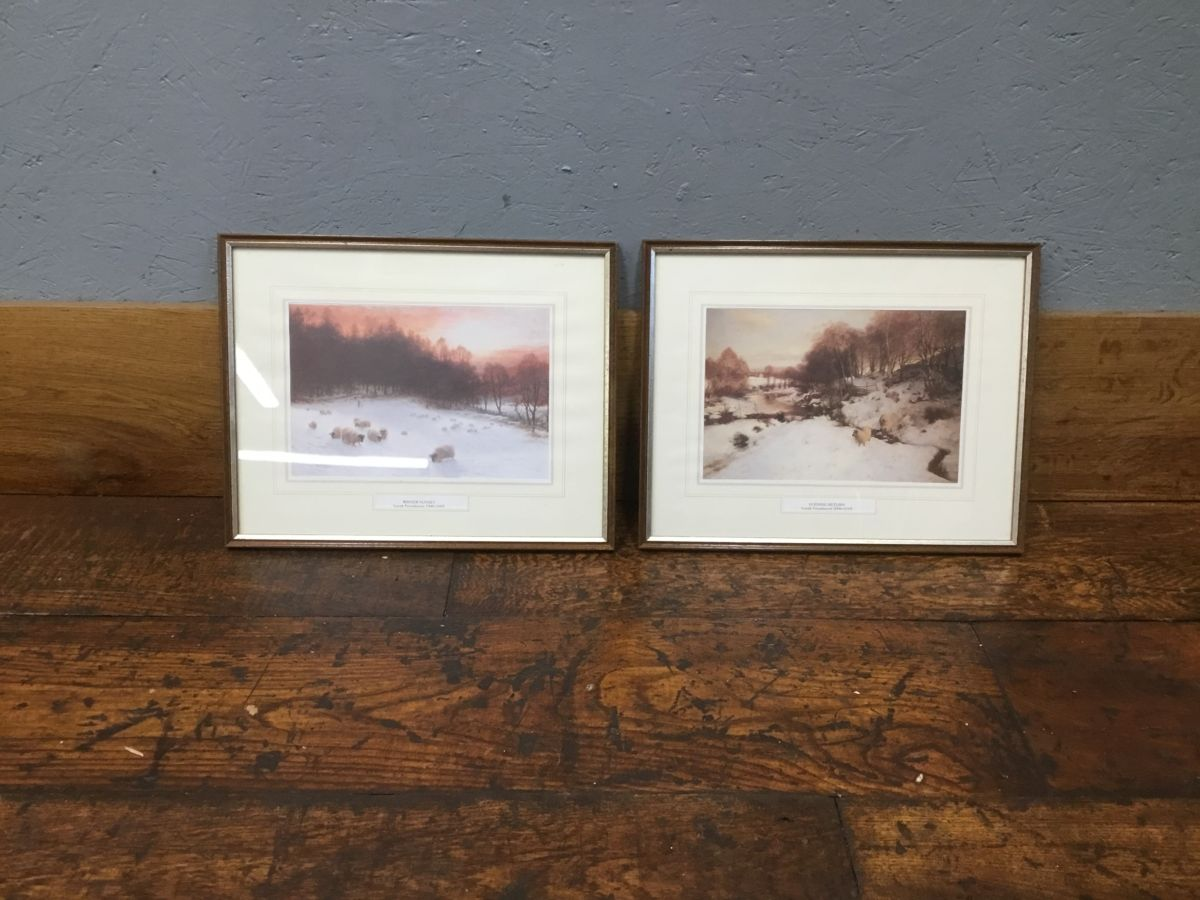 Winter Sheep Scene Prints
