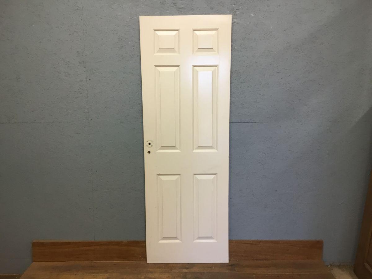 Reclaimed 6 Panel Raised Panel Painted Door