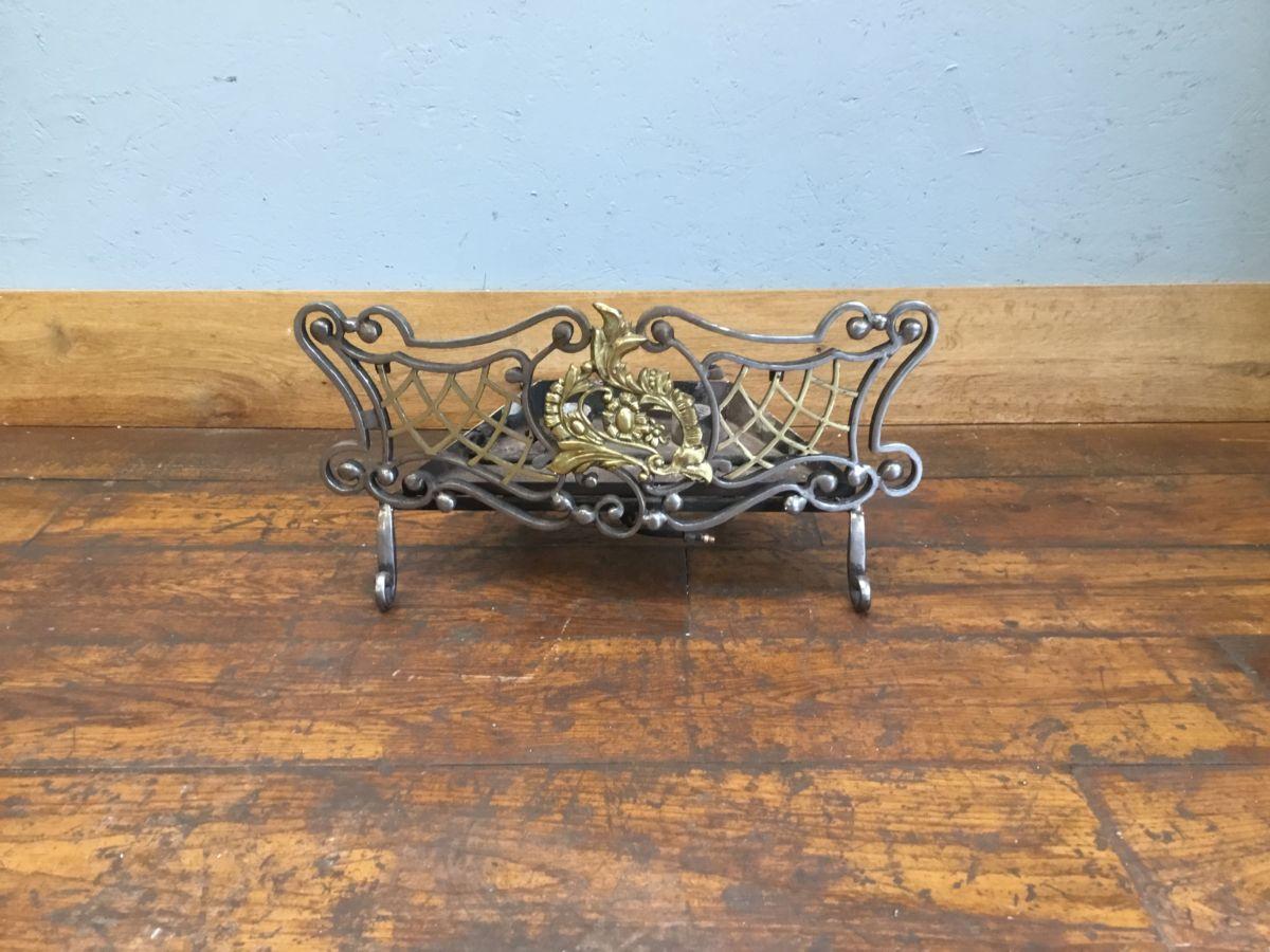 Intricate Brass & Cast Iron Fire Basket